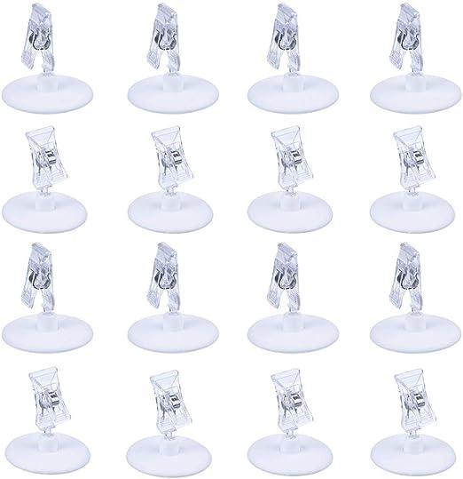 Banchetti SCSpecial Titolari di carte di plastica da tavolo Set di 16 postazioni di carte per banchetti di nozze Ristorante Titolare di menu Titolare di foto Titolare di un promemoria per scrivania