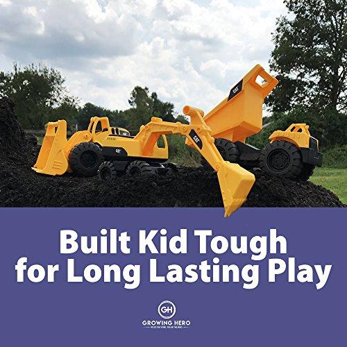 Book,Bull Dozer /& Dump Truck Growing Hero Goodnight Construction Site Gift Set