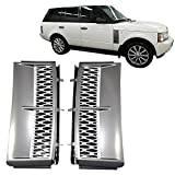 2005 range rover hse grill - Grille Fits 2003-2010 Land Rover Range Rover | OE Style ABS Plastic Chrome Gray & Silver Front Bumper Grill Hood Mesh by IKON MOTORSPORTS | 2004 2005 2006 2007 2008 2009