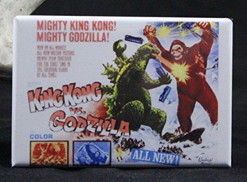King Kong Vs. Godzilla Movie Poster Refrigerator Magnet. (Godzilla Magnet)