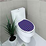 Toilet Sticker 3D Print Design,USA,United States of America Theme Federal Holiday Celebration Revolution Design Decorative,Dark Blue Red White,for Young Mens,W11.8''xH14.2''