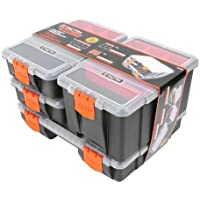Tactix 320020 Organizador de Herramientas, 4 en 1, Negro / Naranja