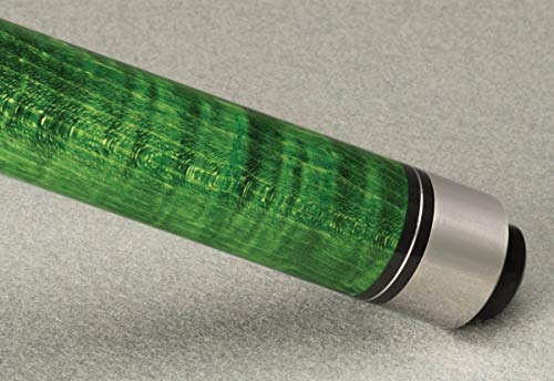 McDermott Star Hustler S68 Sneaky Pete Two-Piece Billiards Pool Cue Stick 3/8 x 10 - Green with ()