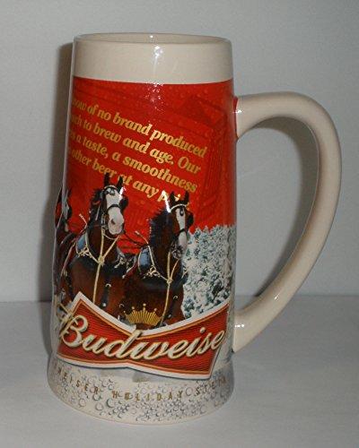 2013 Budweiser Holiday Stein - Anheuser Busch Collectibles