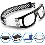 Ponosoon Sports Goggles Glasses for Basketball Football Volleyball hockey 1831 (Black)