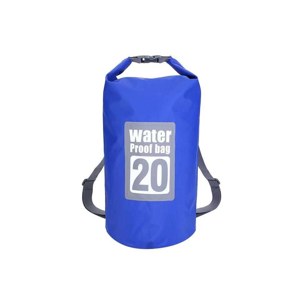 vgeby防水ドライバッグ、アウトドアポータブルスポーツドライストレージバックパック袋の肩ストラップforボートカヤック、カヌー、ラフティング、20l B07CF82QPC ダークブルー