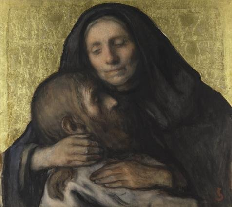 [The High Quality Polyster Canvas Of Oil Painting 'Jakob Smits - Pieta,19th Century' ,size: 8x9 Inch / 20x23 Cm ,this High Quality Art Decorative Prints On Canvas Is Fit For Kitchen Decoration And Home Decor And] (God Of War 3 Costumes Hack)