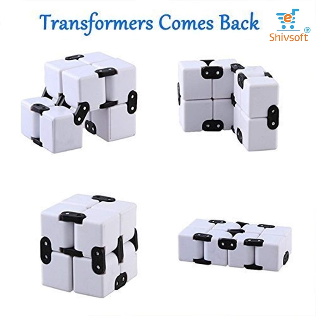 Infinity Cube Puzzle Decompression for Kids and Adults (White) by OK Seller (Image #5)