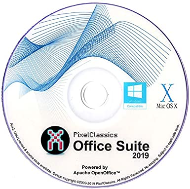 Office Suite 2019 Compatible With Microsoft Office 365 2016 2013 2010 2007  Home Student Professional & Business Software DVD CD Powered by Apache