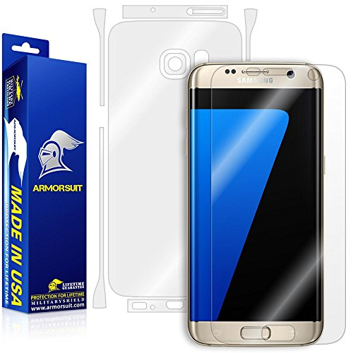 ArmorSuit MilitaryShield - Samsung Galaxy S7 Edge Screen Protector [Full Screen Coverage] + Full Body Skin Protector Anti-Bubble & Extreme Clarity HD Shield + Lifetime Replacement