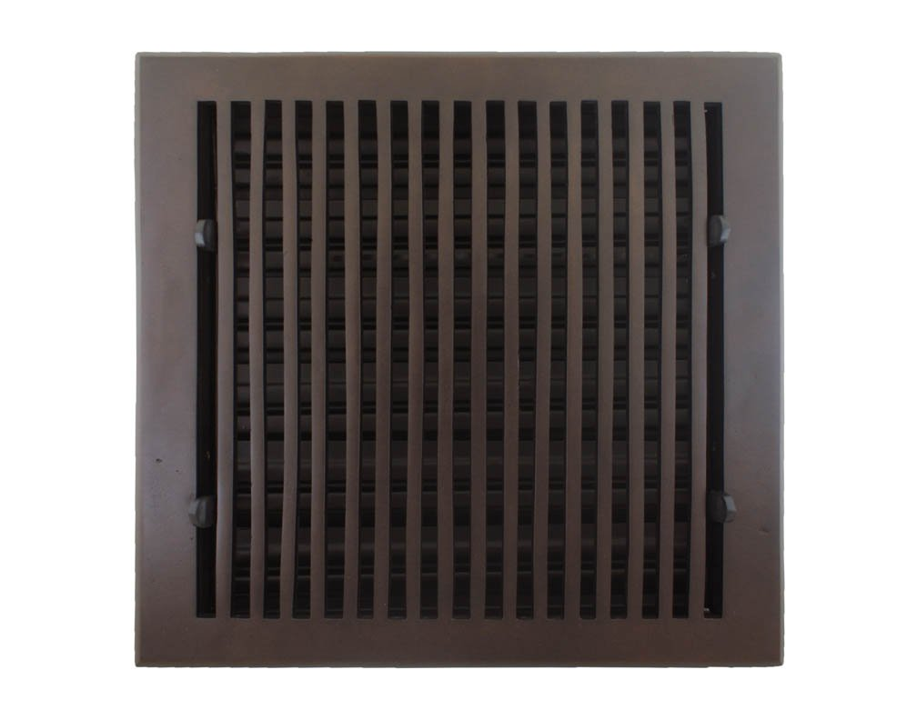 Hamilton Sinkler HVF-1010-BP Hamilton Sinkler Flat Floor Vent with Damper, 10 by 10-Inch, Bronze Patina