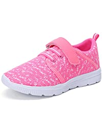 Kids Lightweight Breathable Sneakers Easy Walk Casual...