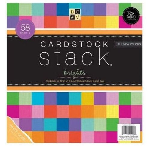 DCWV Cardstock Stack, Match Makers Brights, 58 Sheets, 12 x 12 (Matchmakers Printed)