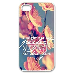 Bible Verse Customized Cover Case for Iphone 4,4S,custom phone case ygtg620502