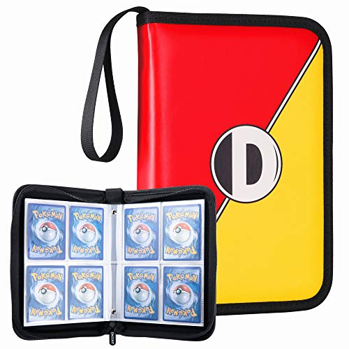 (D DACCKIT Carrying Case Compatible with Pokemon Trading Cards, Cards Collectors Album with 20 Premium 4-Pocket Pages, Holds Up to 320 Cards)