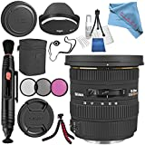 Sigma 10-20mm f/3.5 EX DC HSM Lens For Nikon #202306 + 82mm 3 Piece Filter Kit + Lens Pen Cleaner + Fibercloth + Lens Capkeeper + Deluxe Cleaning Kit + Flexible Tripod Bundle