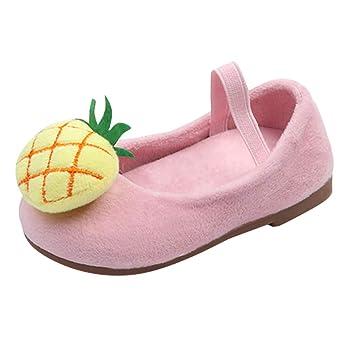 Bébé Ballerines Mocassins DouxPrincesse Chaussures Bateau, QinMM Sneakers  Fluff Chaussons Ananas Balle Enfants Masion Automne 36e91da7dd77