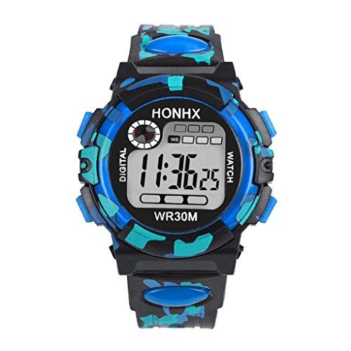 Hometom Kids Multifunction Waterproof Watch Sports Electronic Watches (Blue) Aqua Girls Watch