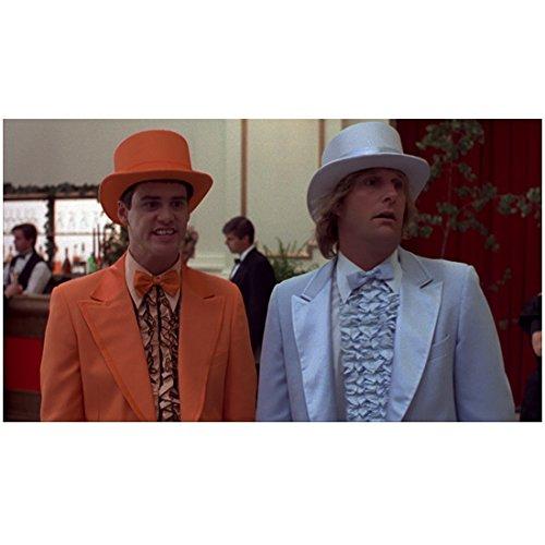 Dumb & Dumber (1994) 8inch x 10inch Photo Jim Carrey Orange Hat & Tux w/Jeff Daniels White Hat & Tux (Dumb And Dumber Orange Tux)