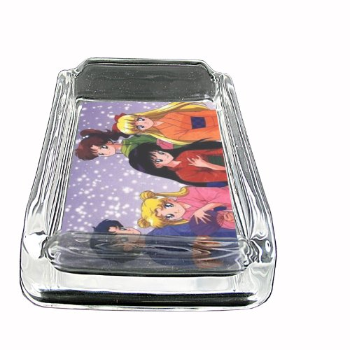 Glass Square Ashtray Sailor Moon Pretty In Snow Whiskey D-280