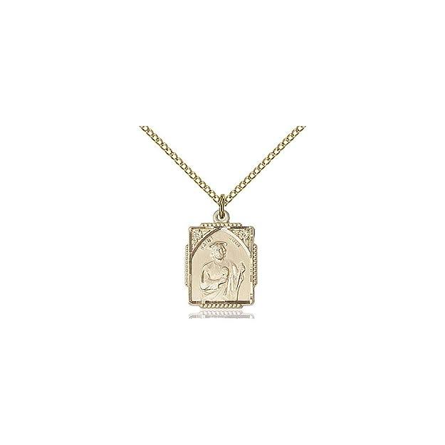 DiamondJewelryNY 14kt Gold Filled St Jude Pendant