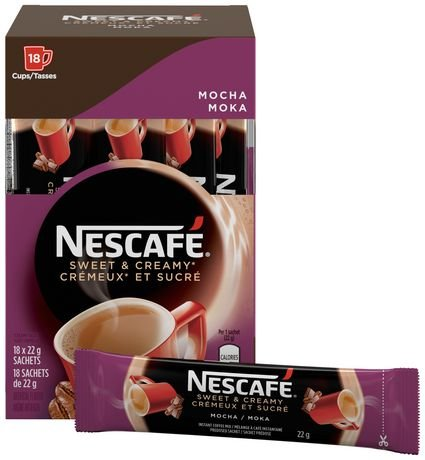 Nescafe Sweet & Creamy Instant Mocha Coffee 18 x 22g from Canada