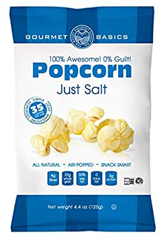 Gourmet Basics Awesome Popcorn Just Salt, 4.4 Ounce (Pack of 12)