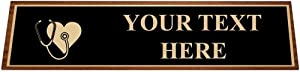 Personalized Desk Name Plates for Nurses, Nursing Desk Name Plate with Customized Engraving Prime
