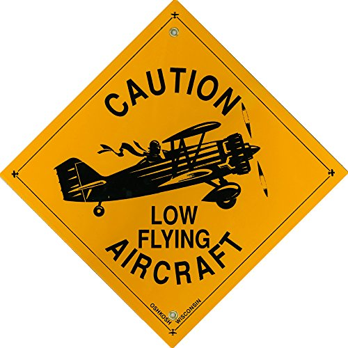 Caution Low Flying Aircraft - Metal (Aircraft Sign)
