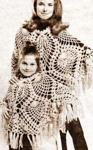 Pineapple Stitch Adult Childs Poncho Crochet Pattern Kindle