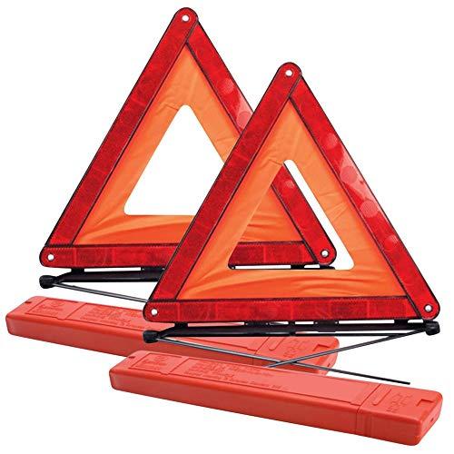 🥇 GADLANE Triangulos Coche Homologados ECE Reflexiva Plegable Advertencia De Carretera Paquete De 2