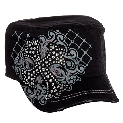 Rhinestone Black Baseball Hat - 7