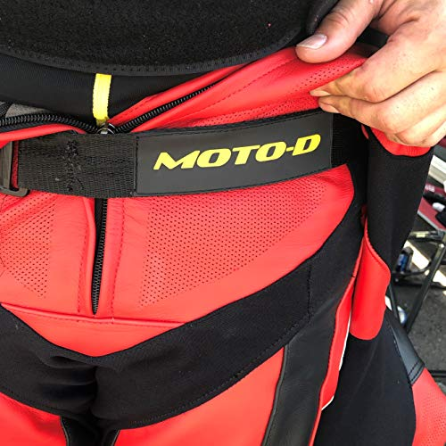 MOTO-D Track Strap Belt for Motorcycle Racing Leather Suits ()