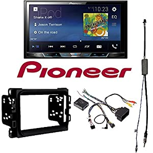 """Pioneer MVH-300EX 7"""" Double-DIN In-Dash Digital Media & A/V Receiver with Bluetooth 2013 - 2017 RAM DOUBLE DIN CAR STEREO INSTALLATION DASH KIT +HARNESS +ANTENNA"""