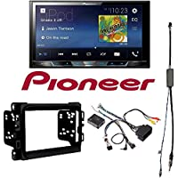 Pioneer MVH-300EX 7 Double-DIN In-Dash Digital Media & A/V Receiver with Bluetooth 2013 - 2017 RAM DOUBLE DIN CAR STEREO INSTALLATION DASH KIT +HARNESS +ANTENNA