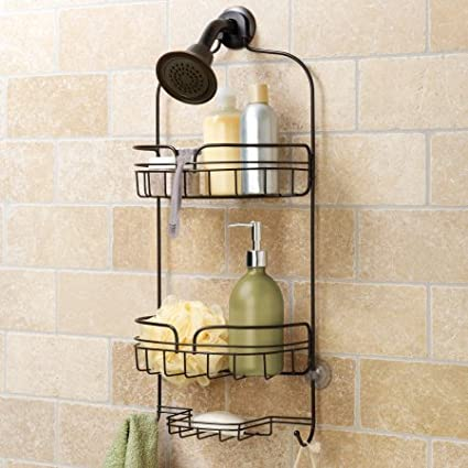 Amazon.com: Hawthorne Place Large Shower Caddy Bronze Stainless ...