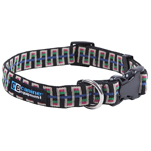 Canine Equipment Ultimate 3/4-Inch Utility Dog Clip Collar, Small, Black Stairs