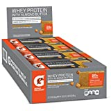 Gatorade Whey Protein With Almond Butter Bars, Salted Caramel,  2.0 ounce bars (Pack of 12), 20g of protein per bar