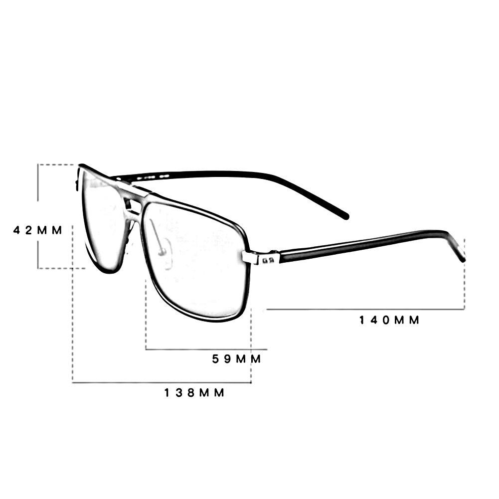 HONEY HD Polarisierte Sonnenbrille - Aluminium Magnesium Square Frame - Treiber Brillen ( Farbe : Gun color box blue legs ) J8FxQSf