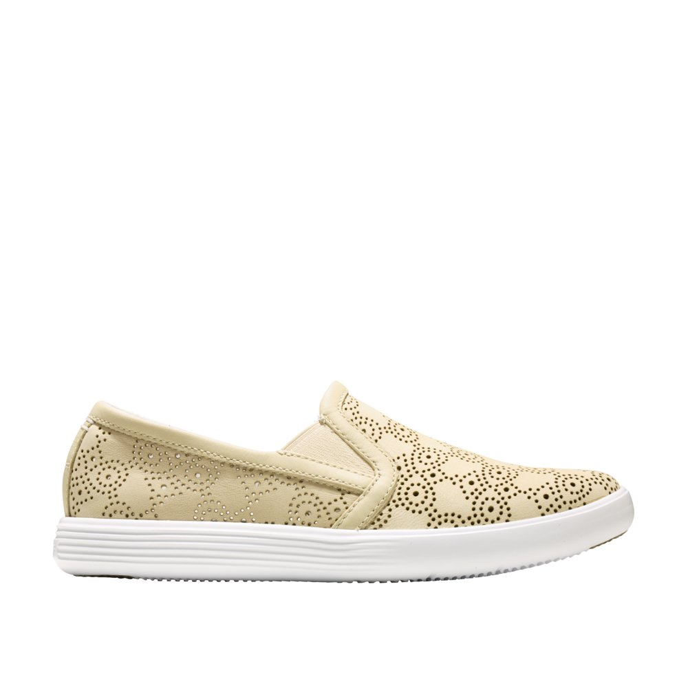 8b440ae3a46 Galleon - Cole Haan Women s Grand Crosscourt Slip On Sneaker 7.5 Brazilian  Sand Perforated-Optic White