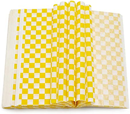 Deli Paper 200pcs Eusoar Dry Wax Paper Wrap Burger Sandwich Liner Food Basket Liner For Restaurants Churches Bbqs School Carnivals
