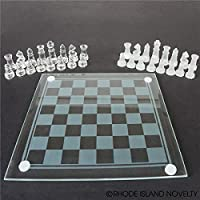 "Rhode Island Novelty 7.5"" Glass Chess Set"