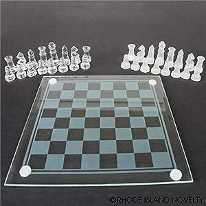 """Rhode Island Novelty 7.5"""" Glass Chess Set"""