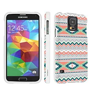 SkinGuardz Samsung Galaxy S5 Hard Protection Case - (Mint Green Geo Print White)