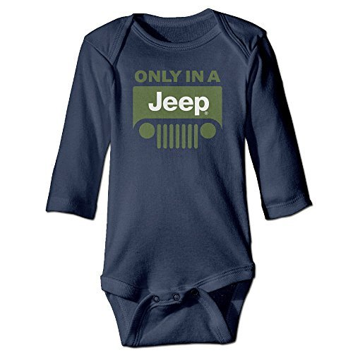 Only In Jeep Logo Toddler Baby Onesies Newborn Clothes Long Sleeves