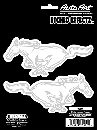 Chroma 70511 Ford Mustang Etched Effect Decal (2 piece)