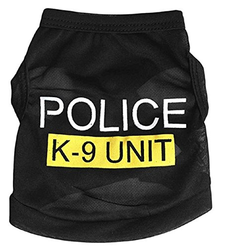 Summer Dog Clothes Police Pattern Dog Clothing Sport Style Pet Vest T-shirt for Dog Clothes Hot Sale (Daisy Duke Costume For Adults)
