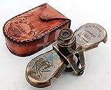 Nautical Columbus Brass Marine Vintage Binocular Spy Glass R & J Beck London 1857 Monocular Telescope