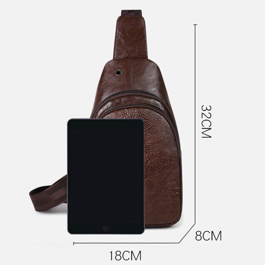 Leather Messenger Bag Shoulder Bag Sling Bag Backpack Messenger Bag Casual Sports Outdoor Bag Mens Chest Bag