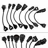 Aupoko 8 Pcs OBD2 Adaptors Truck Cables For AUTOCOM CDP PRO Diagnostic Interface Scanner